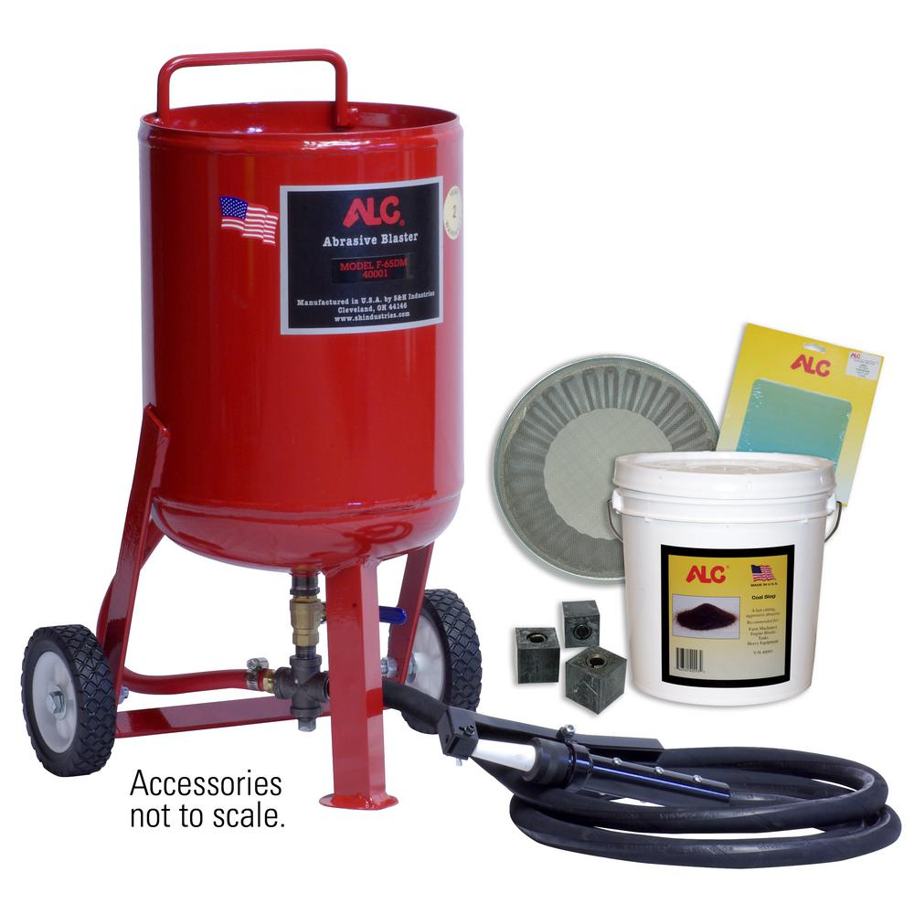 65 lbs. Portable Pressure Abrasive Blaster with Starter Kit