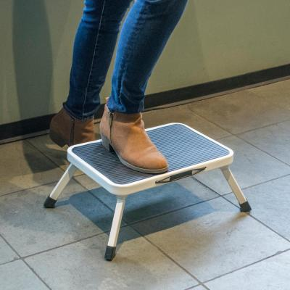 1-Step Steel Folding Mini Step Stool with 330 lbs. Load Capacity