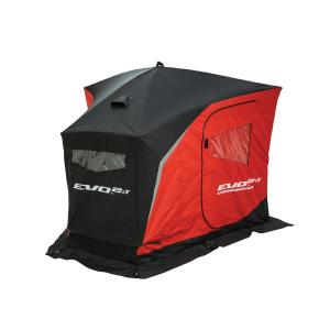 Click here to buy Eskimo EVO 2iT 2-Person Insulated Top Crossover Ice Shelter by Eskimo.