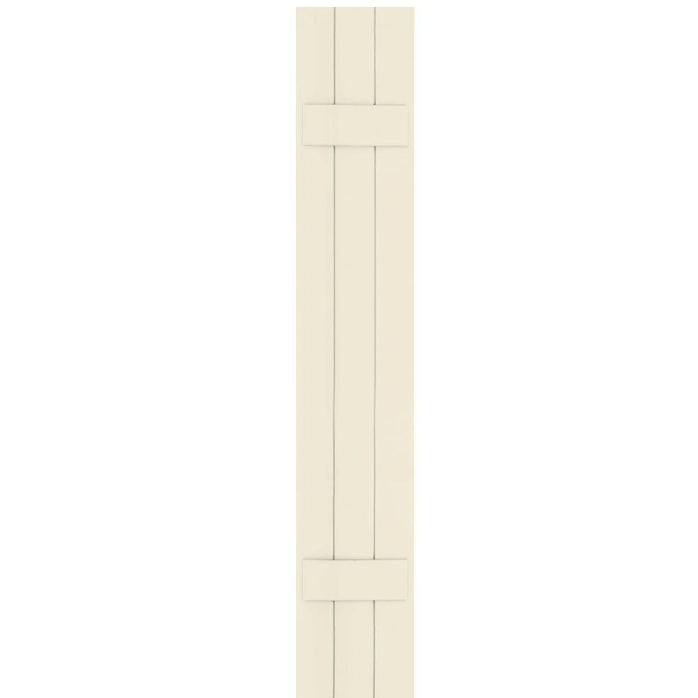 Winworks Wood Composite 12 in. x 70 in. Board & Batten Shutters Pair #651 Primed/Paintable