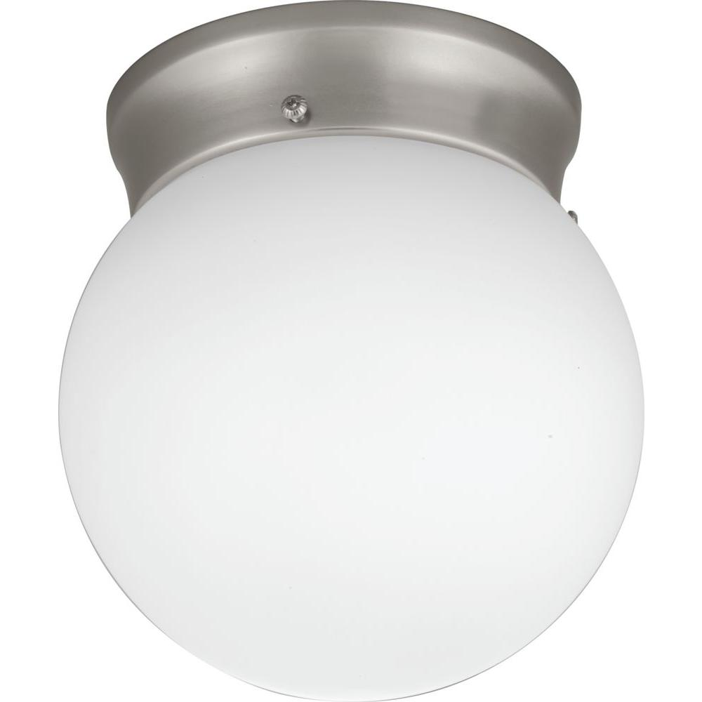 Lithonia Lighting 6 in. Polished Brushed Nickel LED Globe Flushmount
