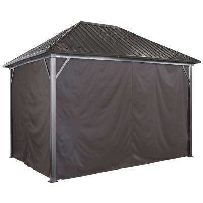 10 ft. x 14 ft. Curtains for Genova in Brown - Gazebo Not Included