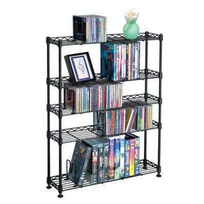 Maxsteel Black Open Bookcase
