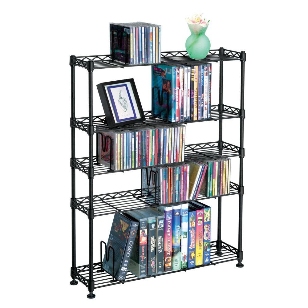 Atlantic Maxsteel Black Open Bookcase by Atlantic