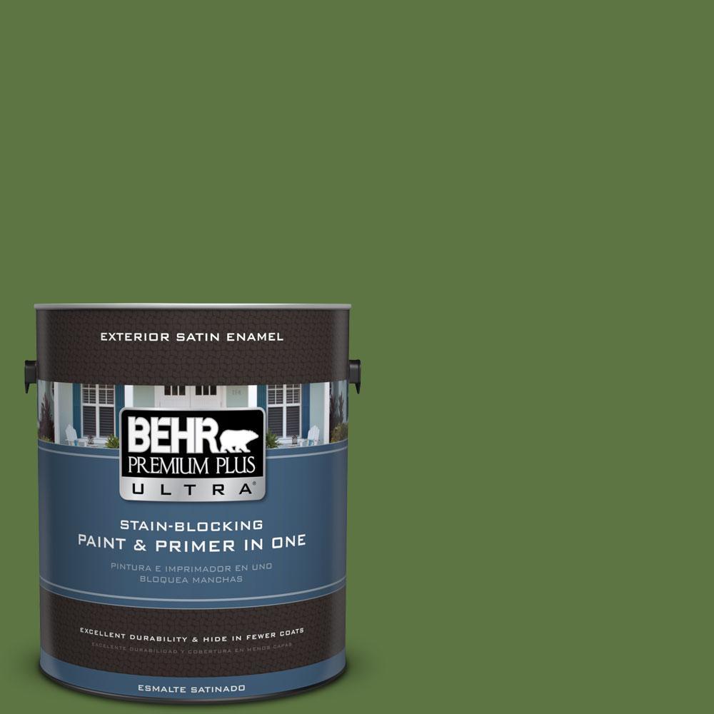 BEHR Premium Plus Ultra 1-gal. #420D-7 Dill Pickle Satin Enamel Exterior Paint