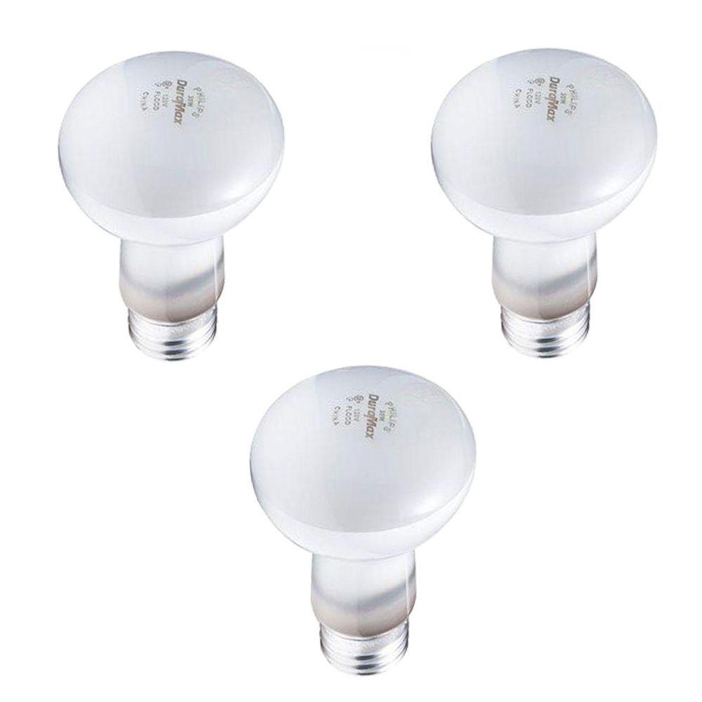 30-Watt R20 Incandescent DuraMax Dimmable Flood Light Bulb Bright White (3-Pack)