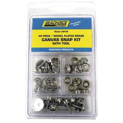 Nickel Plated Brass Canvas Snap Kit With Tool (49-Piece)
