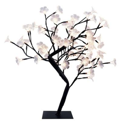 23.62 in. Black LED Cherry Blossom Decorative Lighted Tree