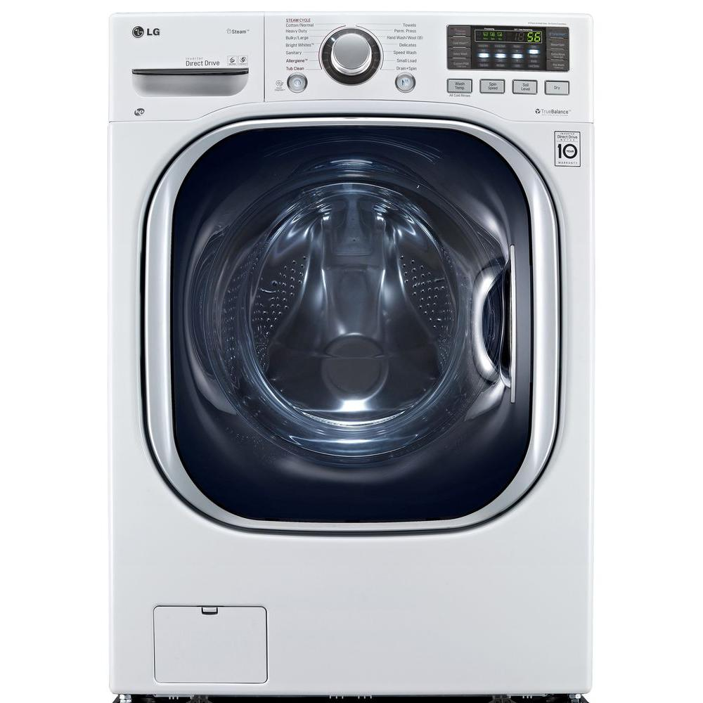 4.3 DOE cu. ft. High-Efficiency All-in-One Washer and Electric Ventless Dryer in White