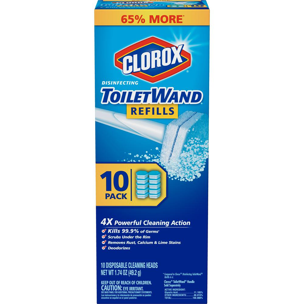 Clorox ToiletWand Disinfecting Disposable Toilet Cleaning Head Refills (10-Count)