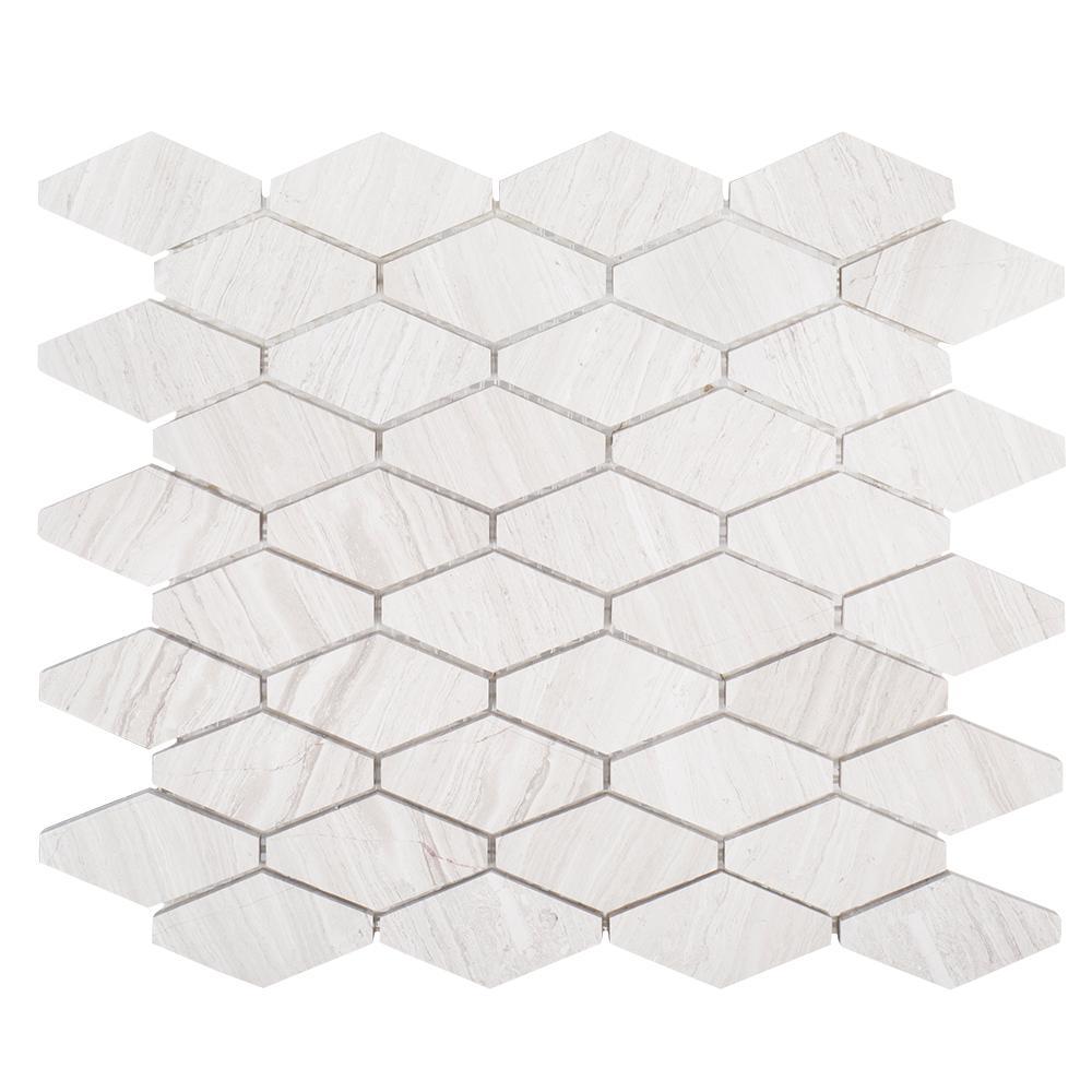 Jeff Lewis Melrose 10-3/8 In. X 12-1/8 In. X 8 Mm Limestone Mosaic Tile-98490