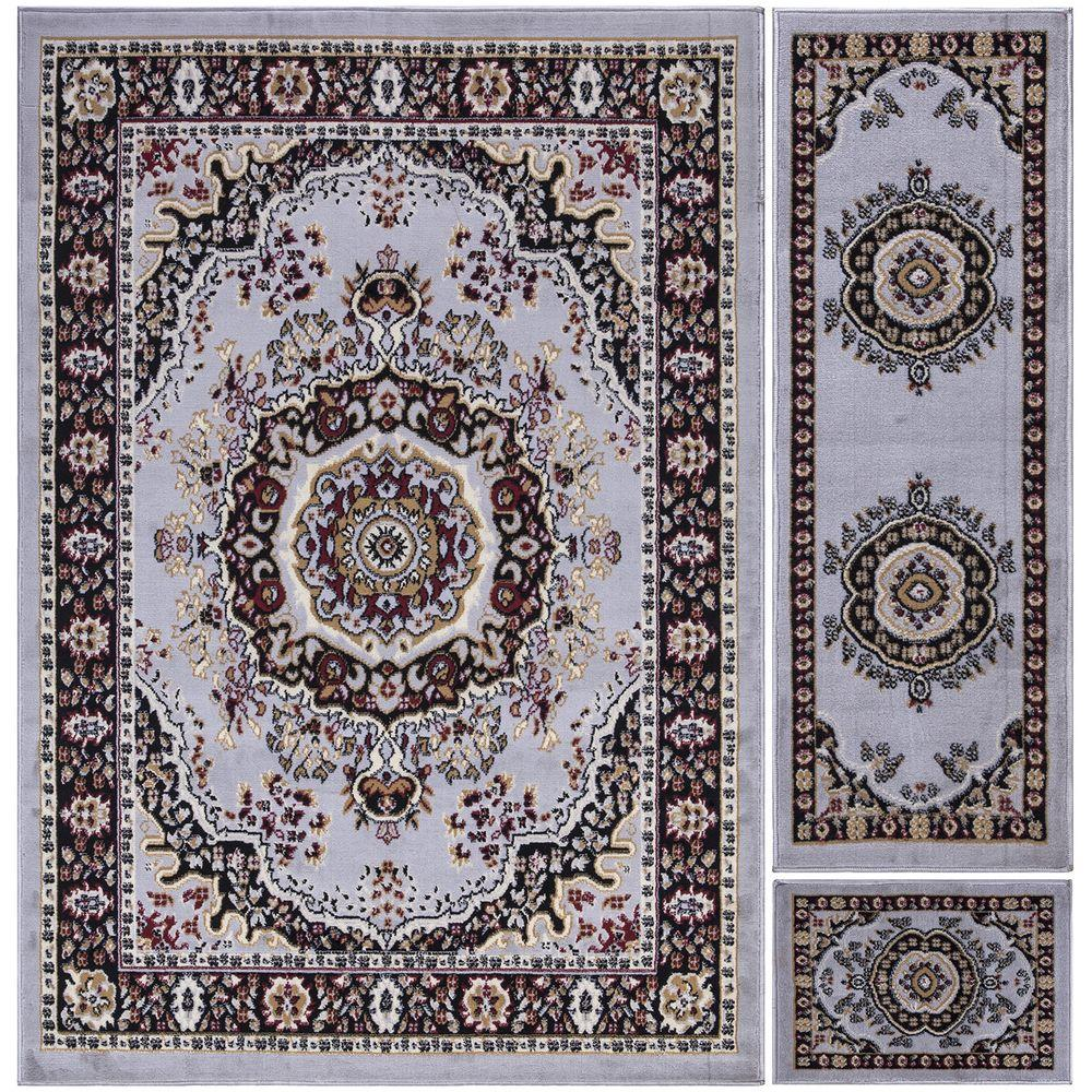 Paterson Collection Traditional Oriental Design Greyish Blue 5 ft. x 7