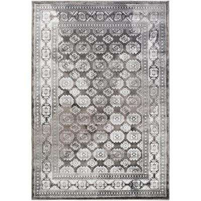 Nova Black 5 ft. 2 in. x 7 ft. 6 in. Indoor Area Rug