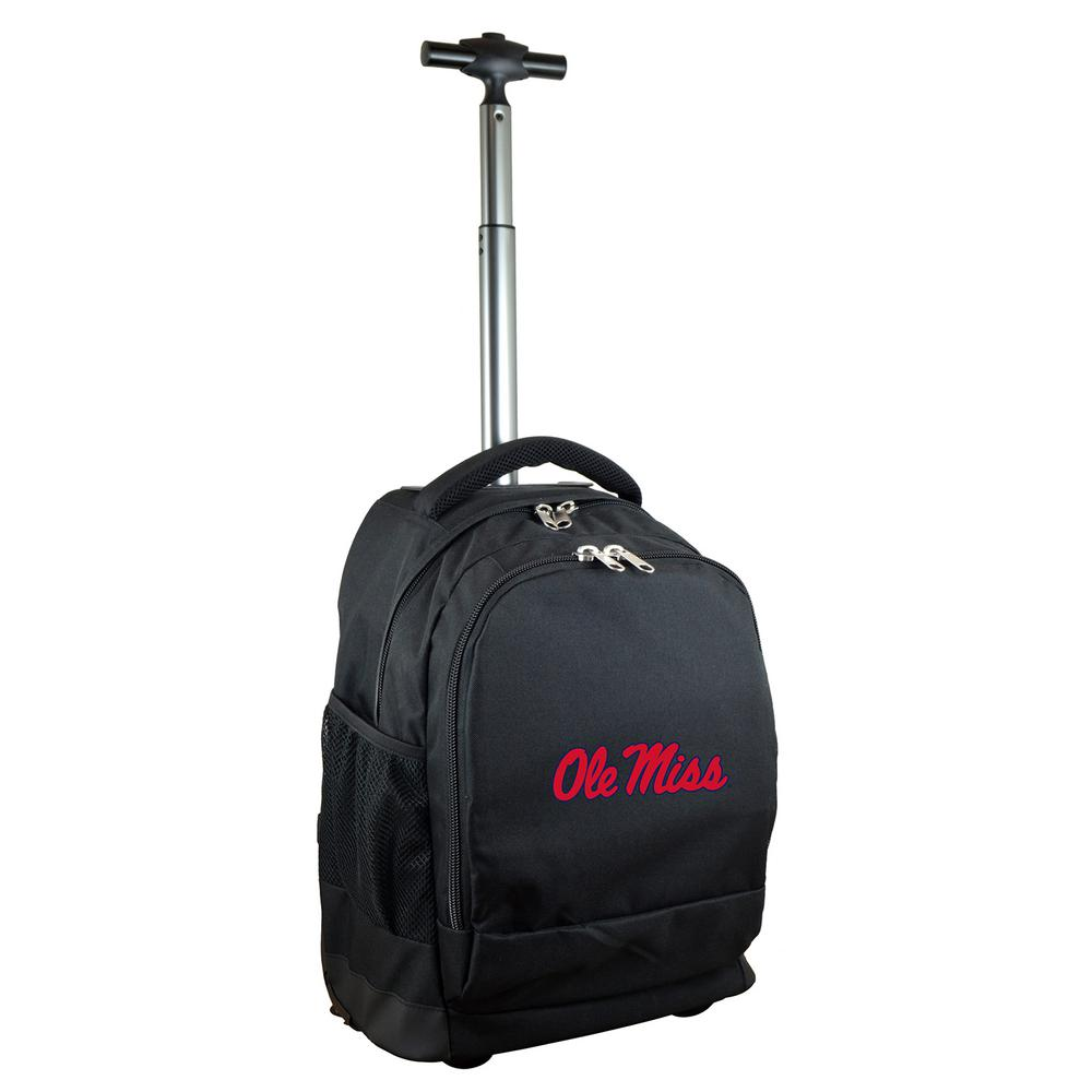 NCAA Mississippi 19 in. Black Wheeled Premium Backpack