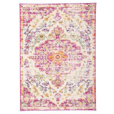 Vintage Traditional Bohemian 7 ft. 10 in. x 10 ft. Pink Area Rug
