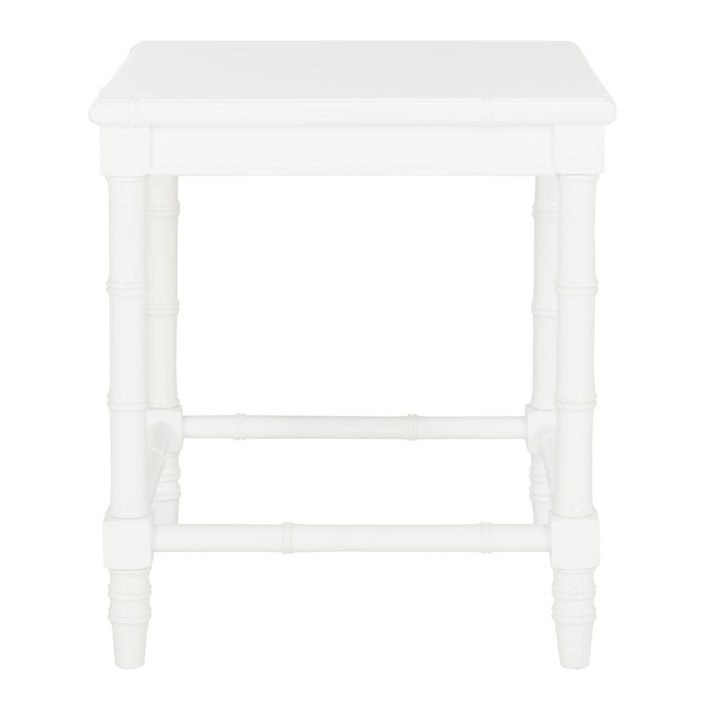 Liviah White Side Table