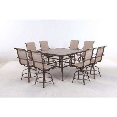 Sun Valley 9-Piece Aluminum Outdoor Bar Height Dining Set