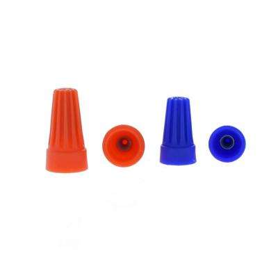 Assorted Orange and Blue Standard Wire Connectors