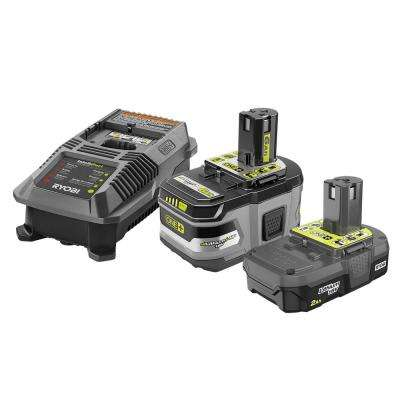 18-Volt ONE+ Lithium-Ion Lithium+ HP 6.0 Ah Starter Kit with 18-Volt ONE+ 2.0 Ah Lithium-Ion Compact Battery