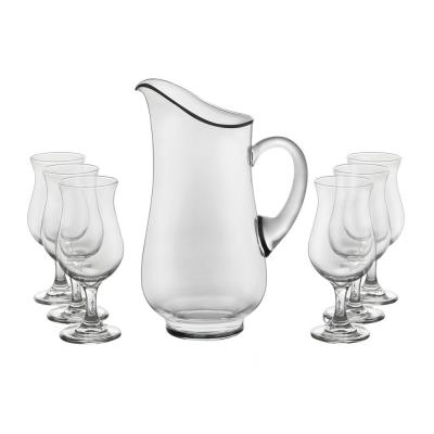 Modern Bar 7-Piece Sangria Glass Entertainment Set