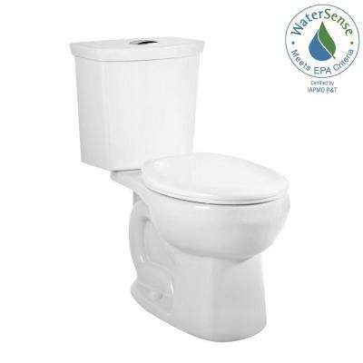 H2Option 2-piece 0.92/1.28 GPF Dual Flush Round Front Toilet in White, Seat Not Included