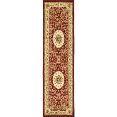 Versailles Phillipe Red 2' 7 x 10' 0 Runner Rug