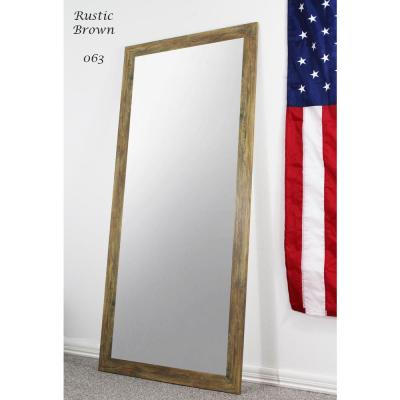 70.5 in. x 31.5 in. Rustic Brown Full Body/Floor Length Vanity Mirror