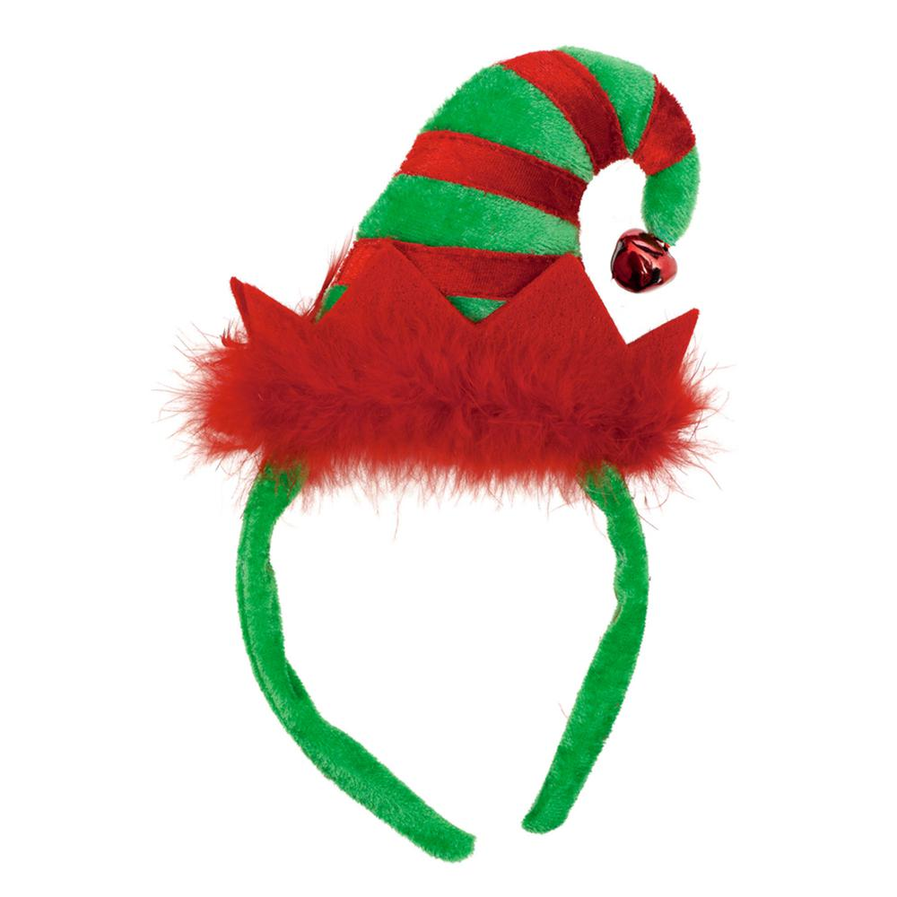 af0931d234c9a Amscan 9 in. x 5 in. Elf Christmas Hat Headband (3-Pack)-318719 ...