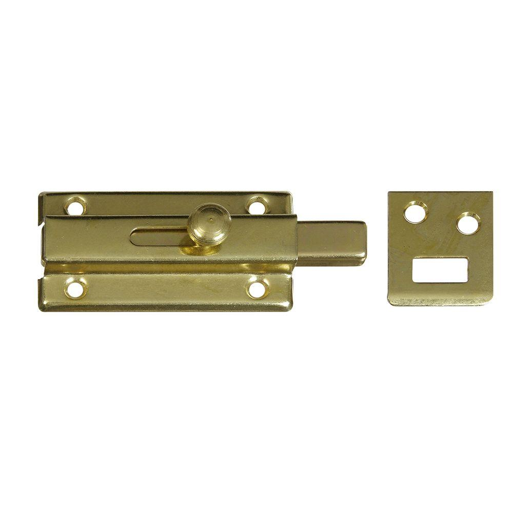National Hardware 3 in. Slide Bolt in Brass