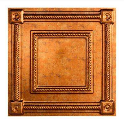 Coffer - 2 ft. x 2 ft. Lay-in Ceiling Tile in Muted Gold