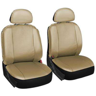 Polyurethane Seat Covers 21.5 in. L x 21 in. W x 31 in. H Seat Cover Set Beige (6-Piece)
