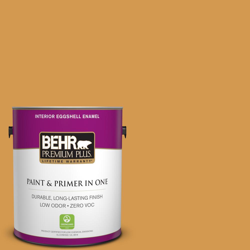 1 gal. #PPU6-02 Saffron Strands Zero VOC Eggshell Enamel Interior Paint