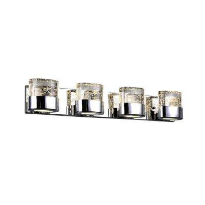 Emmanuella Collection 29 in. Chrome Sconce