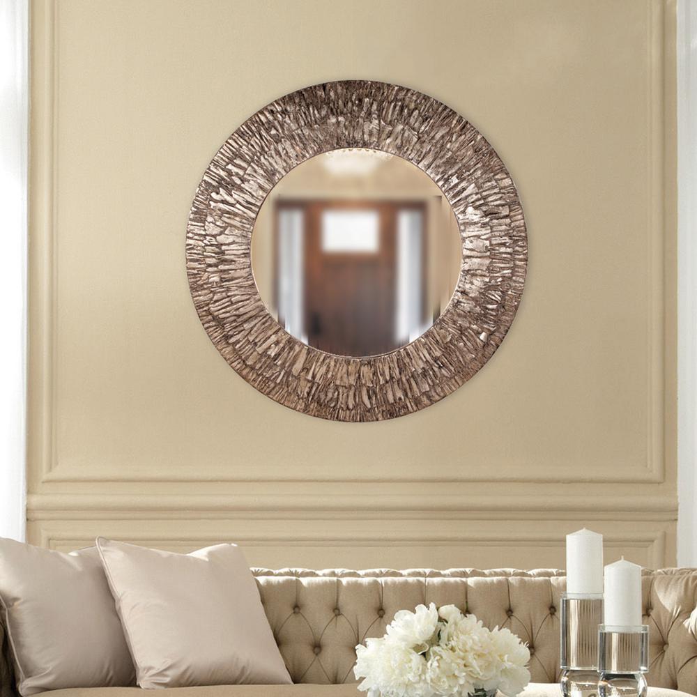 c48ac33b89b5 The Howard Elliott Collection 36 in. x 36 in. Linden Round Mirror ...