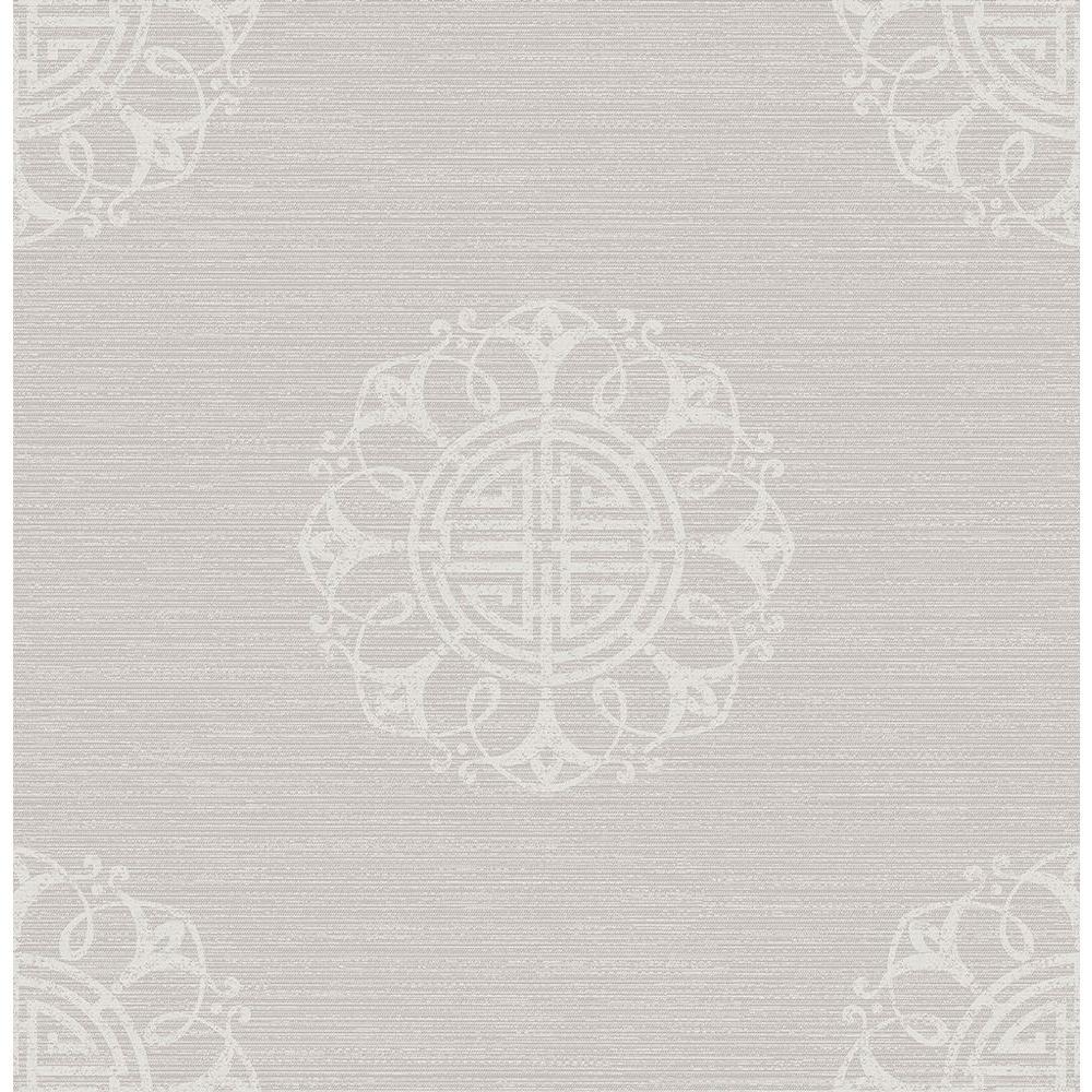 Sagwa Silver Medallion Wallpaper