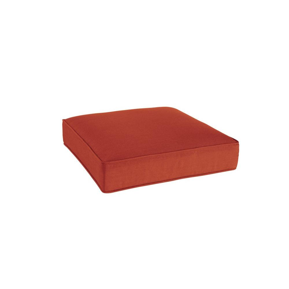 Greystone Replacement Outdoor Ottoman Cushion in Cinnabar