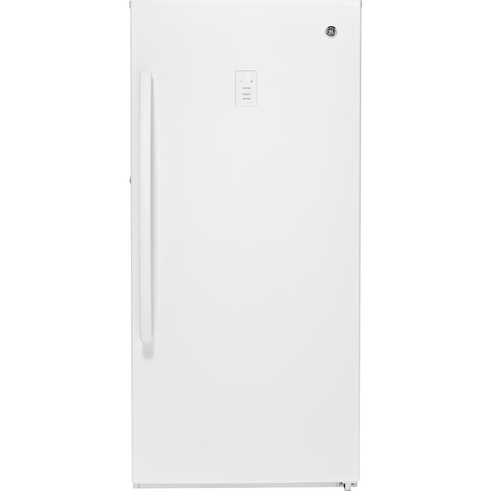 GE 14.1 cu. ft. Frost-Free Upright Freezer in White
