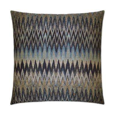 Inferno Smoke Feather Down 24 in. x 24 in. Standard Decorative Throw Pillow