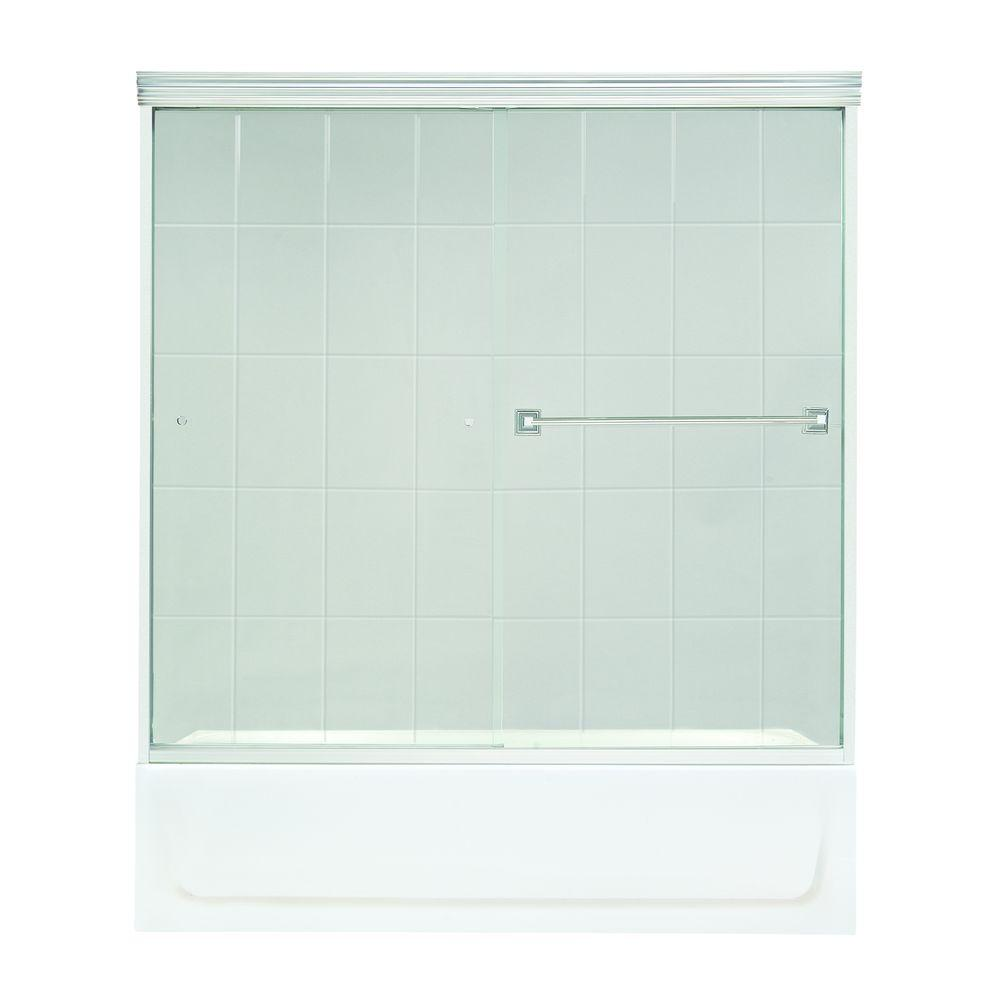 MAAX Noble 59-1/2 in. W x 57-5/8 in. H Frameless Bypass Shower Door in Chrome