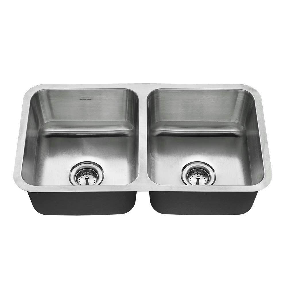 American Standard Undermount Stainless Steel 32 In Double