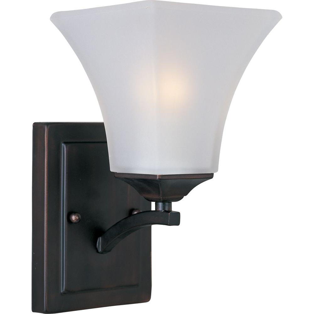 Aurora 1 Light Oil Rubbed Bronze Sconce