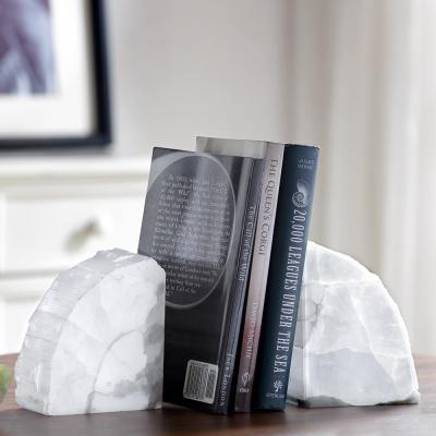 White Agate Stone Bookends (Set of 2)