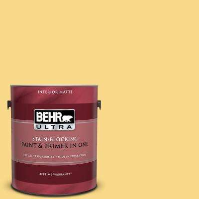 1 gal. #P280-4 Surfboard Yellow Matte Interior Paint and Primer in One
