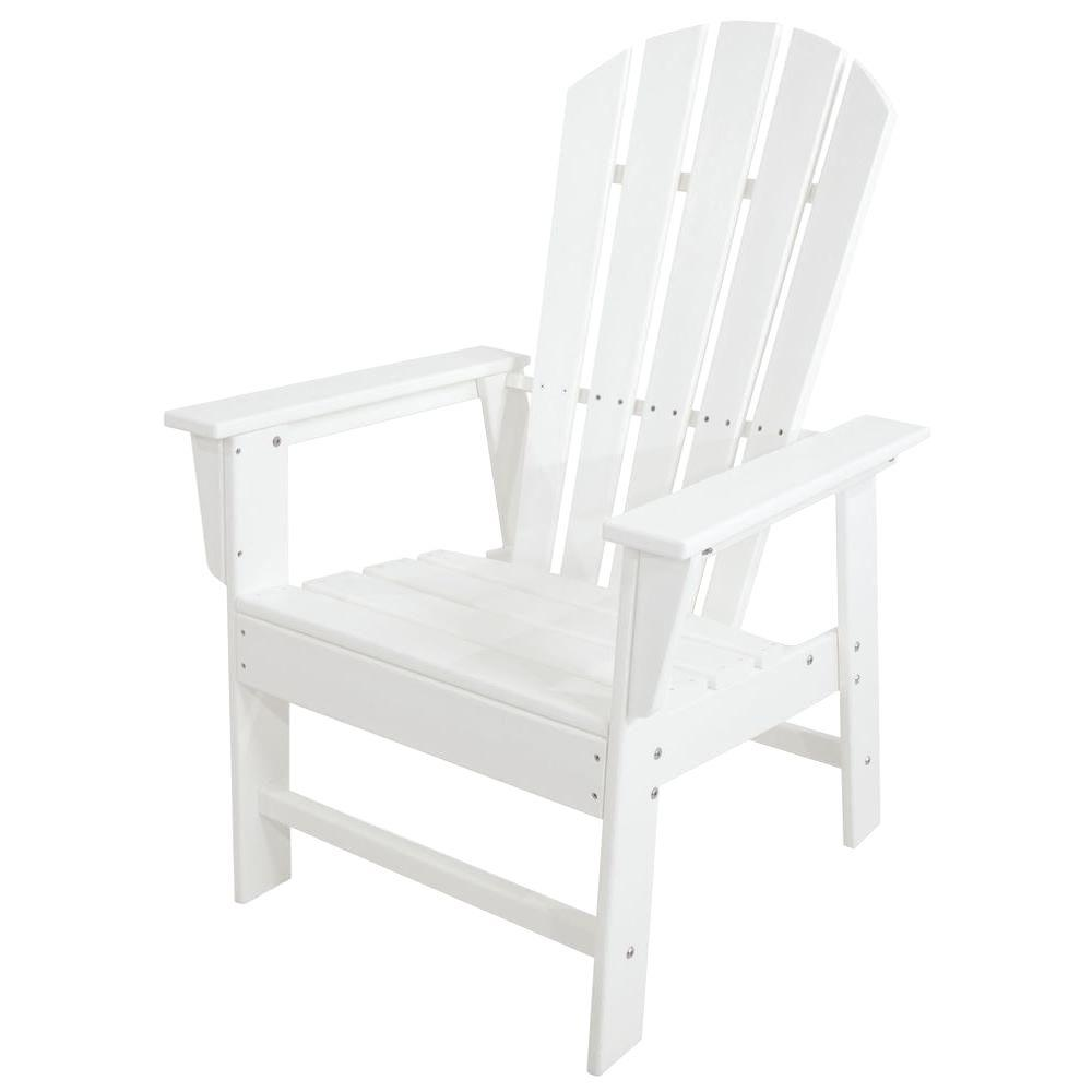POLYWOOD South Beach White All-Weather Plastic Outdoor ...