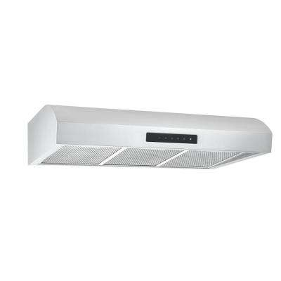 UC7 36 in. Ducted Under Cabinet Range Hood in Stainless Steel with Night Light Feature