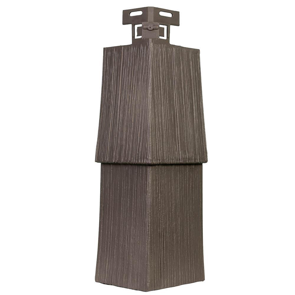 Shake RS - 4.5 in. x 14.63 in. Rough Sawn Shake in Cedar Blend - Corner (5.21 lin. ft. per Box) Plastic Trim Siding