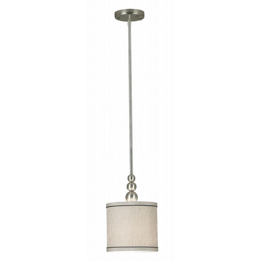 Kenroy Home Margot 1-Light Brushed Steel Mini Pendant