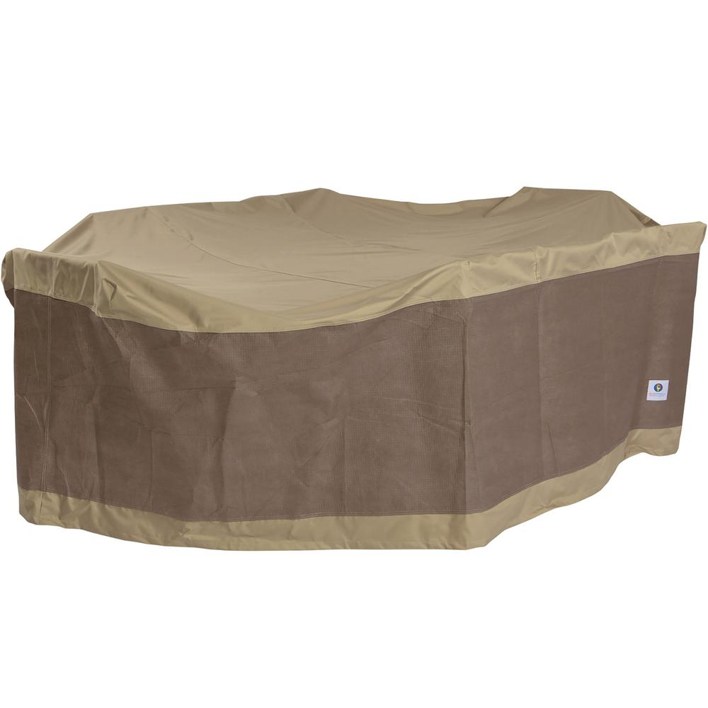 Duck Covers Elegant 96 In Patio Table With Chairs Cover Lto09664 The Home Depot
