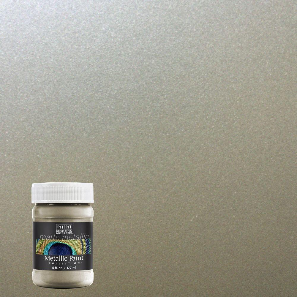 6 oz. Champagne Water-Based Matte Metallic Interior Paint