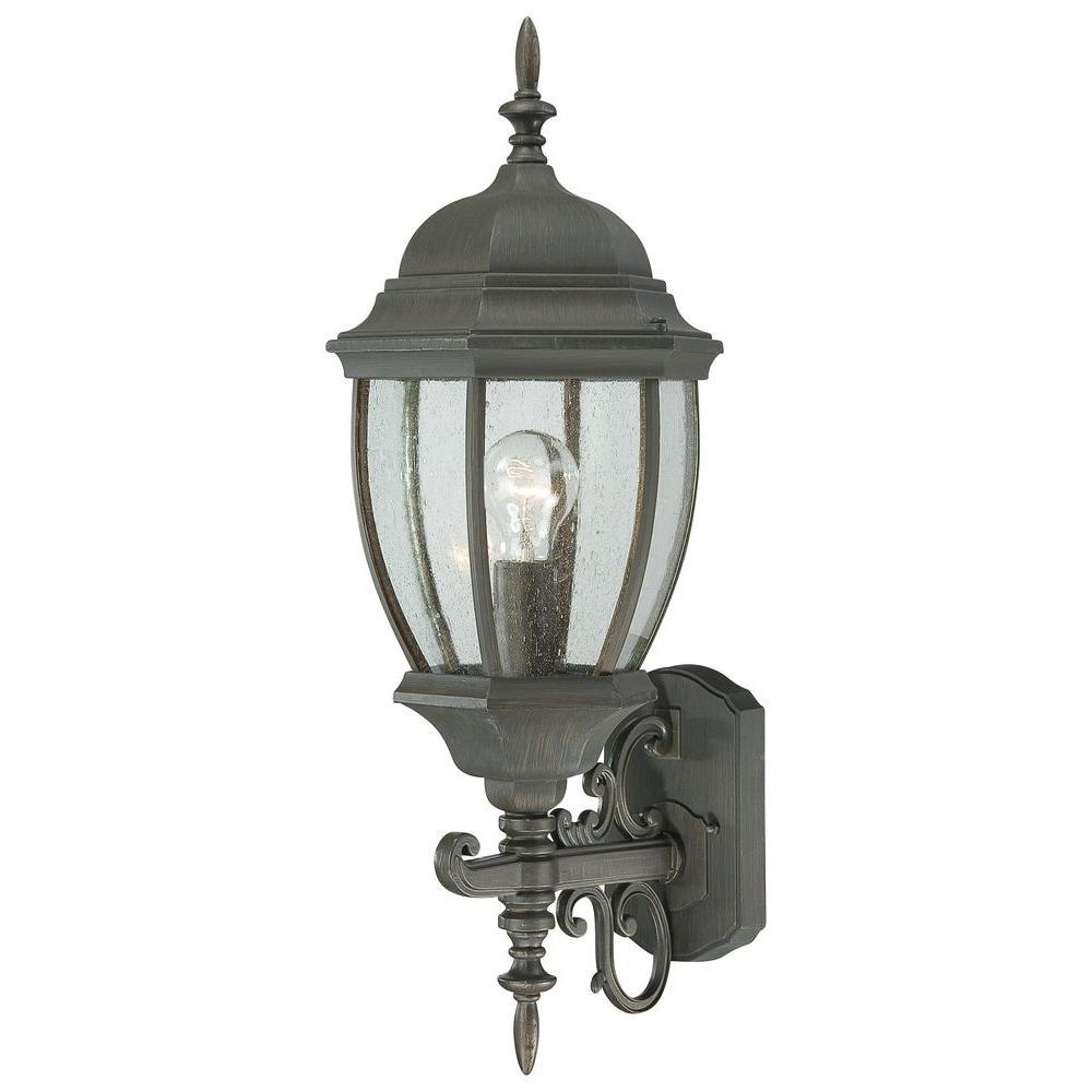 Thomas Lighting Covington 1-Light Painted Bronze Outdoor Wall-Mount Lantern
